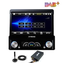 XTRONS autoradio 1 din gps 7 inch with DAB+ Tuner Ready/mirror bluetooth radio/USB/AF/FM, car dvd player retractable screen