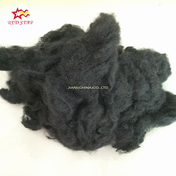 polyester fiber padding,hollow conjugated polyester staple fiber waste,price,black recycled polyester synthetic fiber