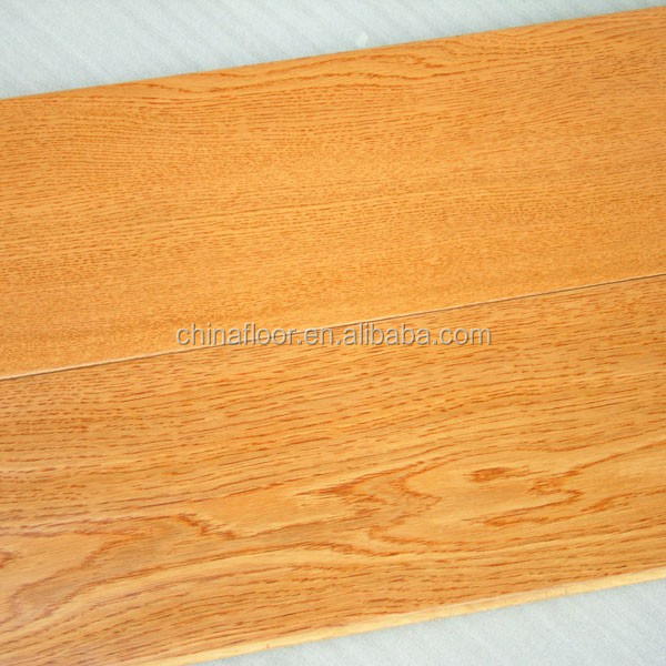 Smooth natural light color American red oak engineered wood flooring