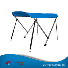 2 Bow Bimini Top Boat Canopy Cover with Free Support Poles and Towel Clips