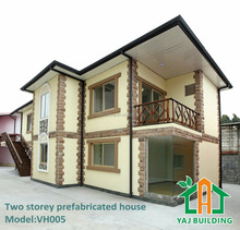 Two Storey steel Sandwich Panel Prefabricated House prefab kit homes VH005