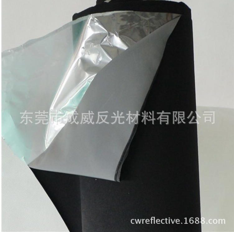 colorful durable high reflectivity widely used reflective nylon TC sewing fabric material