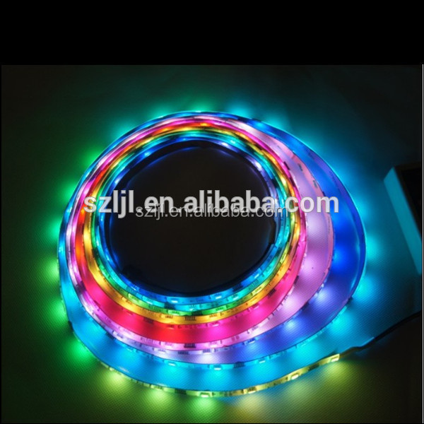 LED Strip Light 30LEDs 5050 SMD <strong>RGB</strong> WS2812 LED strip DC5V Chip Black PCB