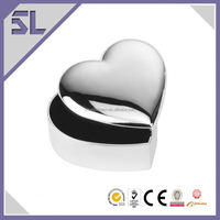 Polished Indian Trinket Box Silver Plated Jewellery Boxes Romantic Heart Jewelry Box Packaging