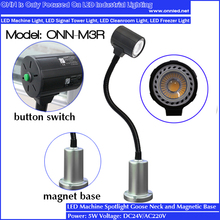 ONN-M3R Industrial Led Machinery Lighting / Gooseneck Magnetic Work Light 24V /220V