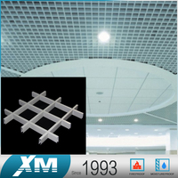 Nice Quality architectural design lattice panel slat lath metal ceiling