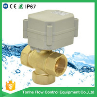 3 way stainless steel motorized ball valve 12v 24v water shut off,mini auto control water system,water meter