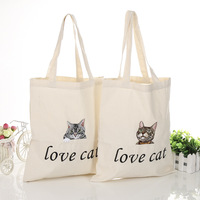 2016 Wholesale Standard Size Custom Printed Cotton Canvas Tote Bags