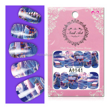 Russian post Christmas watermarkings, manicure stick A1129-1188 water transfer printing stickers