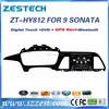 Automotive multimedia special car dvd player for Hyundai sonata 9 generation 2014 2015 in dash car gps navigation system