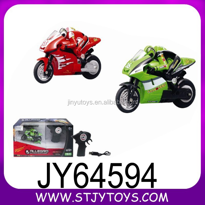 Toy motorcycle plastic jumping remote control electric motorbike for children