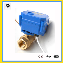 1/2 inch cr04 90 degree motorized electric thread self closing ball valve for replacing solenoid valve