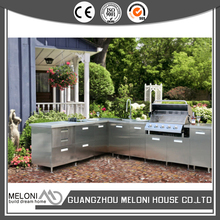 L-shape stainless steel restaurant kitchen furniture with free combination