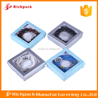 Manufacturer of art paper square cardboard gift boxes clear lid