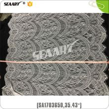 Water Soluble Elastic Silk Lace Fabric