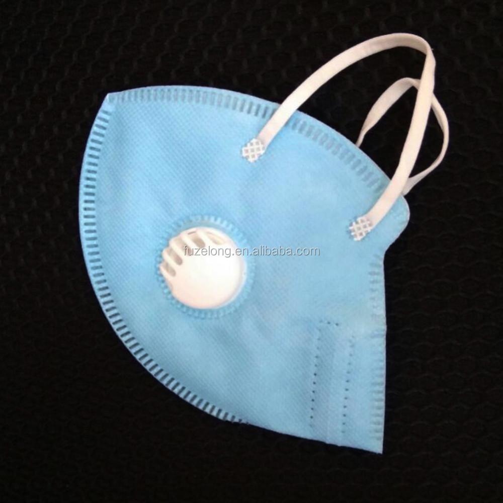Non-woven Disposable Folded N95 Surgical Dust Proof Face Mask Respirator with Valve anti-virus anti-bacterial anti flu