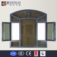Rogenilan 45# customized aluminum oval interior glass entry door inserts