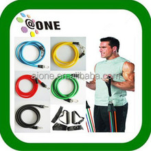 Tube set A-T11s Rubber Band Exercise Equipment fitness resistance band handles