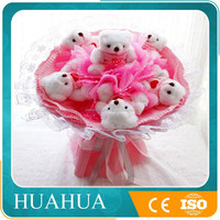 wholesales cheap plush toy bear bouquet for valentines day gift