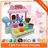 Fashion kids electric shopping toys game ice cream food shop with music