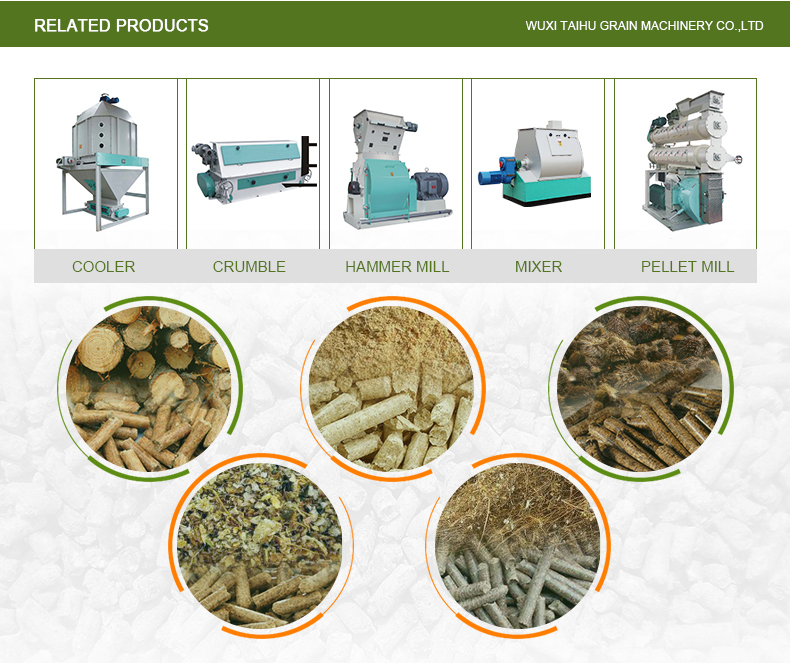 Top best quality ton feed pellet machine production line High security Capacity 2-25t/h gear direct-connecting driving