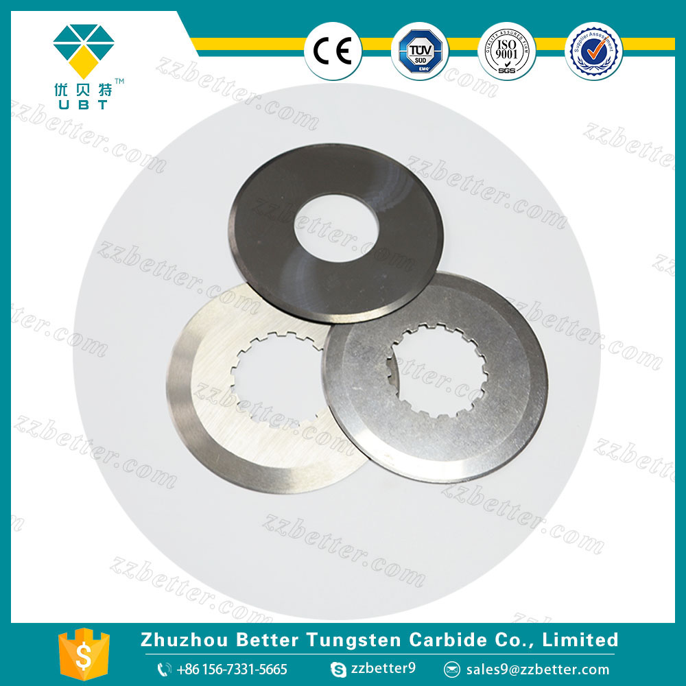 Tungsten carbide scrapping circular knives