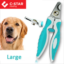 With protective guard safety lock pet grooming tools dog nail clipper pet accessories