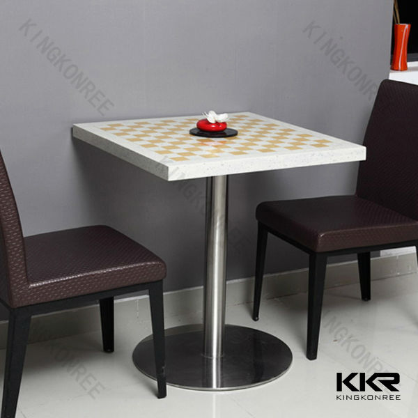 Kingkonree factory made artificial stone granite dining top tables