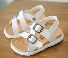 2018 new collections white soft flex outsole gladiator sandals shoes