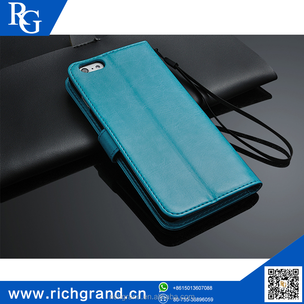 PU leather Wallet Stand case for iphone6 wholesale cell phone case