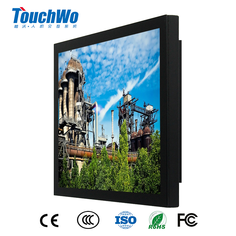 "15"" touch screen flat desktop all in one computer with i3 4g 64g SSD WIN7"