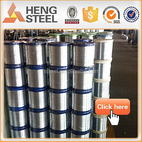 Hot dipped galvanized iron steel wire soft low carbon small sizes