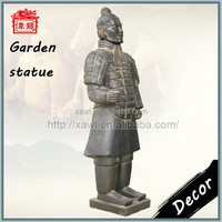 Hand-make Gift Black pottery Color Ordinary Soldier Terracotta Clay YHT87-3