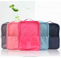 polyester travel bags storage shoes with mesh fabric travel bag for shoes