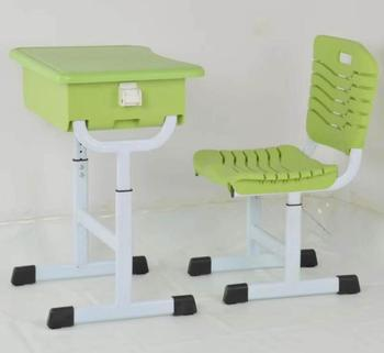 Top quality abs plastic student table school desks and chair