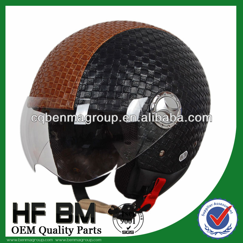 ECE Motorcycle Helmets Leather Material, Good Performance Leather Helmet for Motorcycle, Best Motorcycle Helmet Wholesale!!