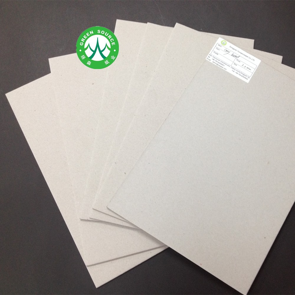 3mm 4mm laminated grey cardboard with strong stiffness