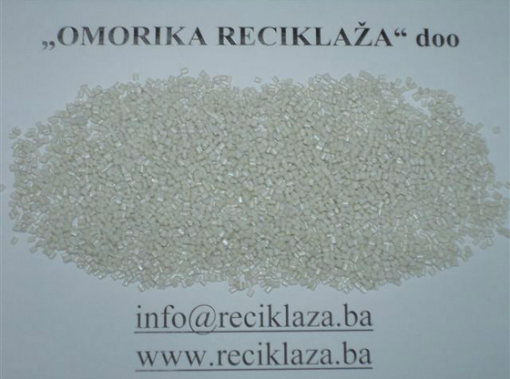 transparent , geen, light blue ,brown pet regranulate