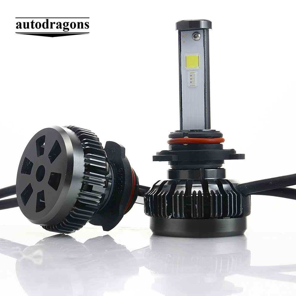 Android IOS RGB APP Control COB 50W 10800lm 9005 H1 H3 H8 H11 HB3 HB4 Car Daytime Running light RGB APP <strong>Auto</strong> COB LED Headlight