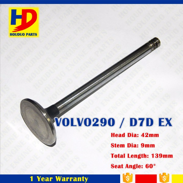 Engine Spare Parts Volvo 290 D7D Exhaust Valve Intake Outlet Inlet Exhaust IN EX