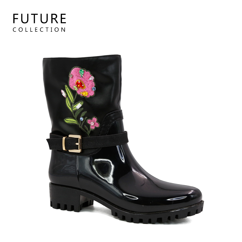 China supplier fashion shoes working rain boots for women