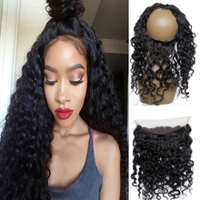 Large instock Virgin Brazilian lace band frontal 360 Lace Frontal 13X4 with elstic black band