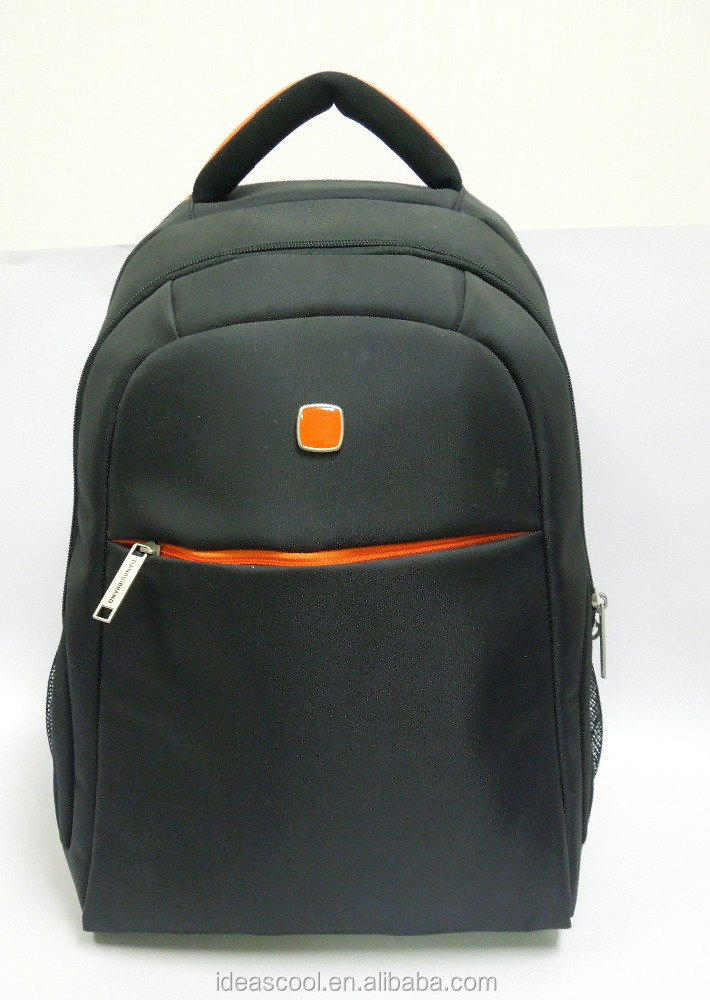 high quality black waterproof nylon 15 inch ibm/hp/acer notebook computer laptop backpack travel bag