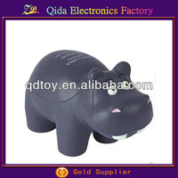 pu foam hippo shape stress ball promotion