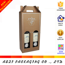 china custom wholesale dimension of carton wine box