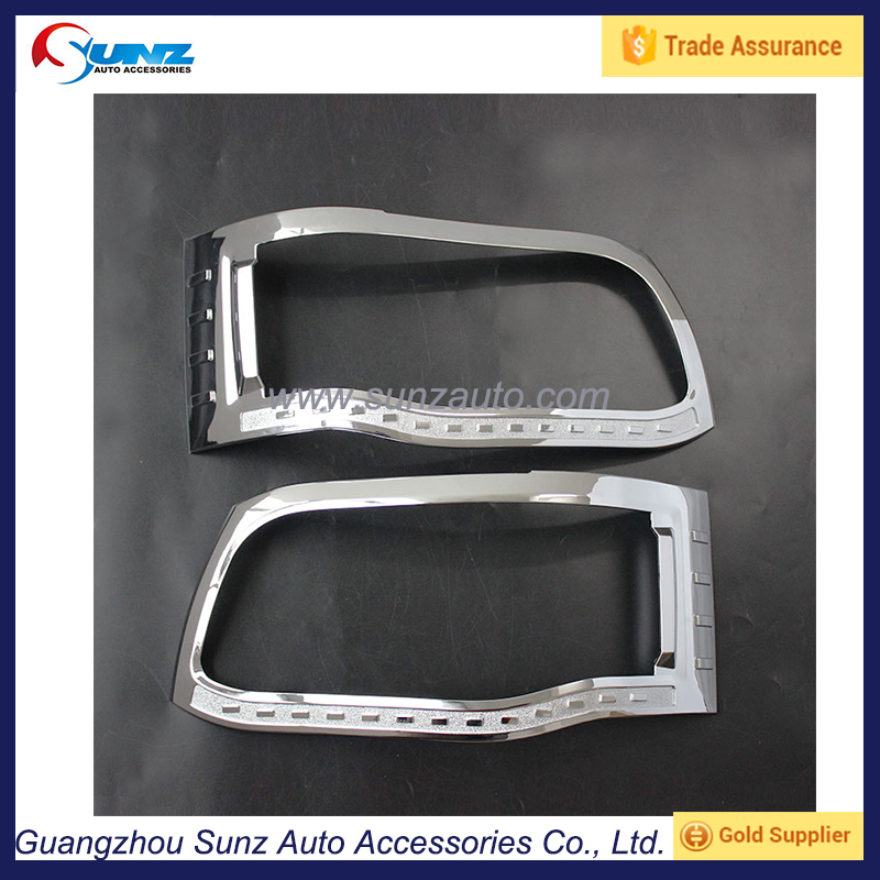 For Toyota Hiace Head light Cover Chrome Finished Headlamp Cover Toyota Haice Head Lamp Trims Chrome Haice Car Accessories