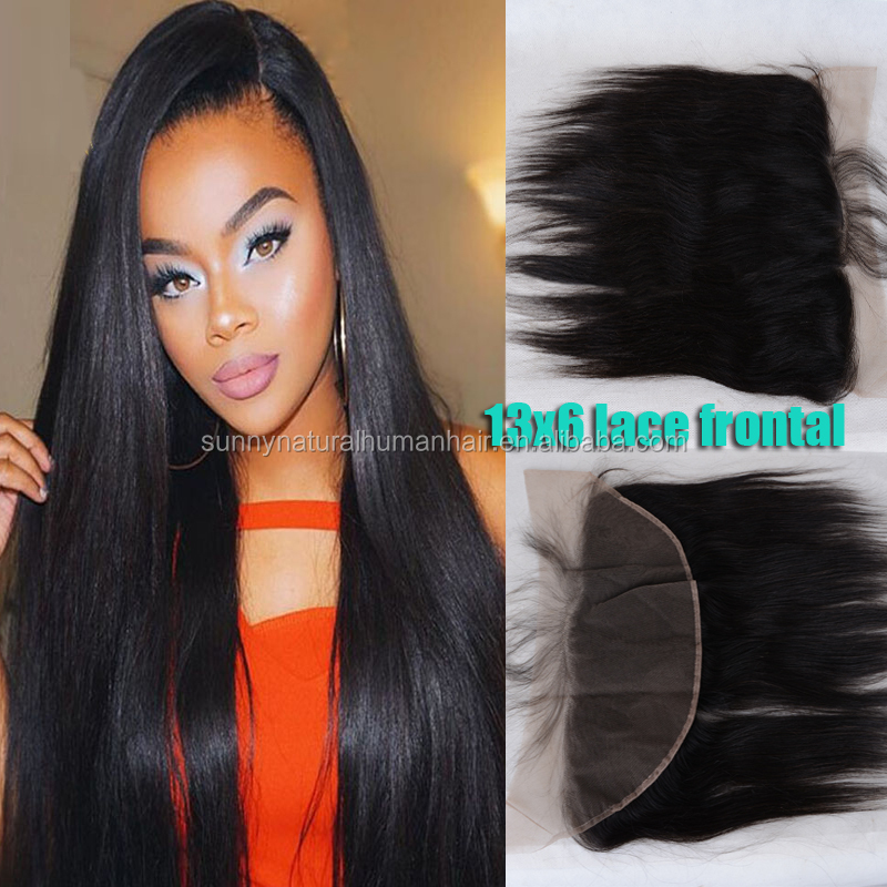lace frontal closure 13*6 human hair ear to ear closure malaysian virgin hair swiss lace frontal piece pre pluck hair line