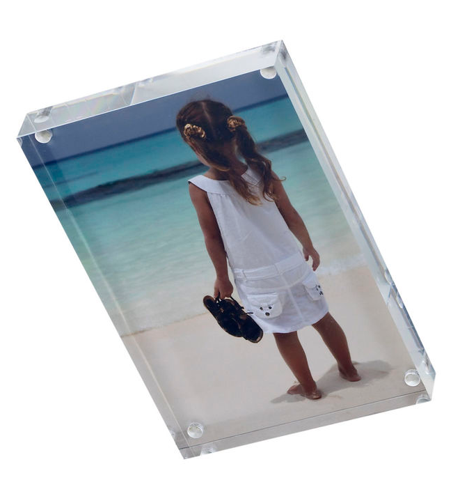 with 4 magnets clear acrylic photo frame 4x6