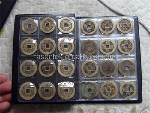 120Pcs Coin Collection Book Openings World Coin Holders Stock Collection Protection Album With Hard Cover