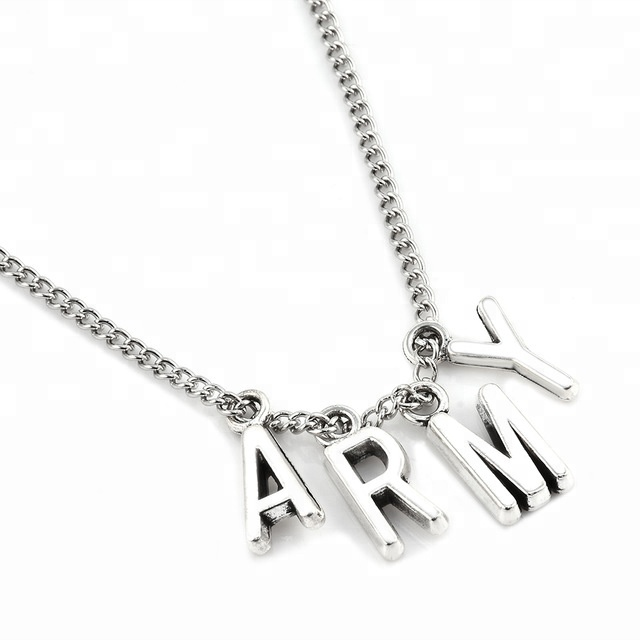 New Fashion KPOP BTS Jimin Necklace Bangtan Boys ARMY Pendant KOOK JIMIN V SUGA Charms <strong>Jewelry</strong>